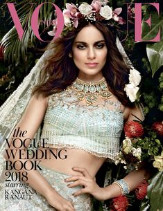 Brides-to-be, your ultimate how-to guide is here. The Vogue Wedding Book 2018 featuring Kangana Ranaut ( hits stands tomorrow with the September issue. Magazine Cover Page, Vogue Magazine Covers, Vogue Covers, Moss Fashion, Women's Fashion, Fashion Trends, Vogue Wedding, Vogue India, Wedding Book