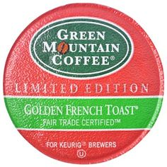 Green Mountain Coffee Fair Trade Golden French Toast K-Cups 24ct Flavored