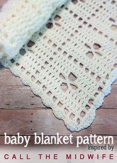 Call the Midwife Crochet Baby Blanket   AllFreeCrochetAfghanPatterns.com