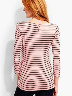 Talbots - Emerson Stripe Tee | | Discover your new look at Talbots. Shop our Emerson Stripe Tee for stylish clothing and accessories with a modern twist at Talbots