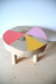 $62 kids' birch stool 12' by KAKAZUonEtsy on Etsy