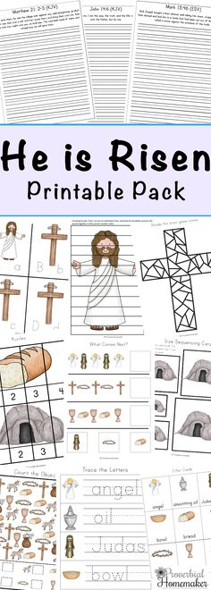 He is Risen Resurrection Sunday Printable Pack - Proverbial Homemaker