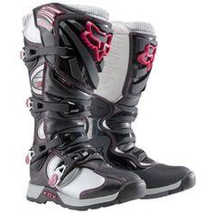 Fox-Racing-Womens-Comp-5-Boots Black/Pink