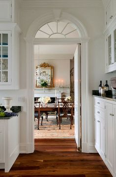 Beautiful doorway with transom