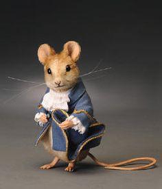 "Gentleman Mouse, 3"" tall, $450."