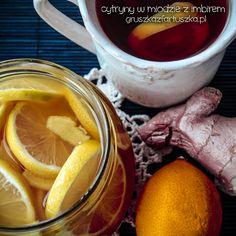 Najsmaczniejsze i najskuteczniejsze lekarstwo na wszelkie przeziębienia - cytryny z miodem z dodatkiem aromatycznego imbiru. Wspaniałe z ciepłą herbatką :)