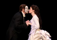 THE PHANTOM OF THE OPERA 25th Anniversary Curtain Call, they shared a little kiss, it was really cute :)