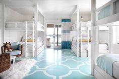 Kids' bunk beds at Possum Kingdom Lake