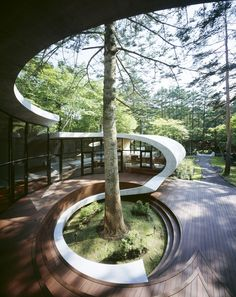 ARTechnic architecture in Nagano, Japan. Play with the curves gently, … - Architecture Organique Model Architecture, Architecture Design Concept, Modern Japanese Architecture, Organic Architecture, Amazing Architecture, Japanese Interior, Biomimicry Architecture, Japanese Modern, Architecture Images