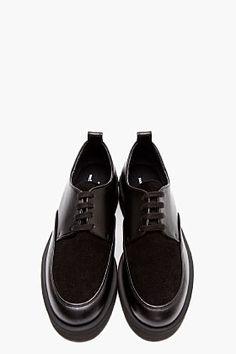 Comme Des Garçons Homme Plus Black Leather Flatform Creepers for men | SSENSE ($455.00) - Svpply