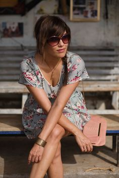 Look #23: No shoes, with floral dress   my MolesKine, by nAiLeé