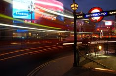 Piccadily circus by night