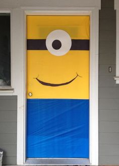 Minion Party Ideas - Turn the front door into a Minion! | Mum's Grapevine