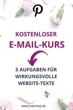 Hol dir den kostenlosen E-Mail-Kurs, der bereits vielen Selbstständigen zu klaren Texten und wirkungsvollerer Kundengewinnung geholfen hat. E-mail Marketing, Content Marketing, Im Online, Online Business, Seo, Organization, Learning To Write, Types Of Text, Newsletter Ideas