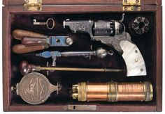 Highly Documented, Cased, and Earliest Known Factory Engraved Colt Pocket Model Paterson Revolver No. 1 (Baby Paterson) with Accessories