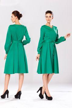 Vestido com decote em v outono de manga comprida, vestidos de inverno com um cinto fino de médio   longo feminino vestido verao Droship S XL LM8156 em Vestidos de Moda e Acessórios no AliExpress.com | Alibaba Group