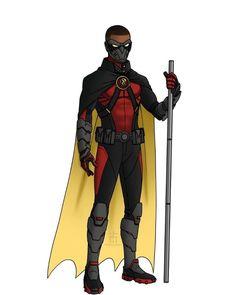 Superhero Art Projects, Superhero Design, Fantasy Character Design, Character Design Inspiration, Batman Redesign, Batman Universe, Marvel Universe, Tim Drake Red Robin, Cosplay Armor