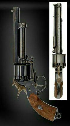 A spectacular second model LeMat percussion revolver Rifles, Revolver Pistol, Revolvers, Black Powder Guns, Cool Guns, Le Far West, Guns And Ammo, Shotgun, Firearms