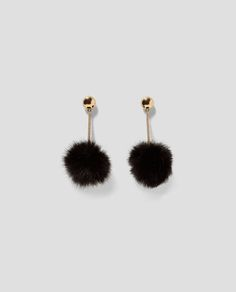 CHAIN LINK EARRINGS WITH POMPOM-NEW IN-TRF | ZARA United States