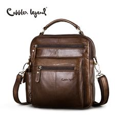 Cobbler Legend Brand Designer Men's Shoulder Bags Genuine Leather Business Bag 2016 New High Quality Handbags For Men #109171