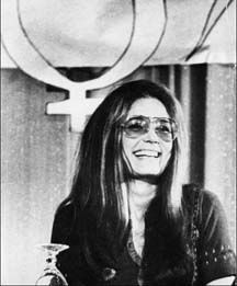Gloria Steinem was born in Toledo, Ohio, on March 25, 1934.  She is an American feminist, writer, social and political activist, and cofounder of Ms. magazine.  She also founded and co-founded many groups, including the Womens Action Alliance, on which she served as chair of the board throughout the 1970s; the NWPC, the Coalition of Labor Union Women; the Ms. Foundation for Women; Choice USA; and Womens Media Center.