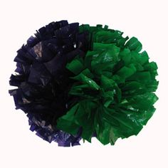 Custom Extra-Wide Streamer 2 Color Alternating Plastic Show Poms by Cheerleading Company