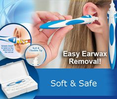 Soft Safe Earwax Removal Swab Spiral Ear Pick Cleaner Remover Stick Earpick