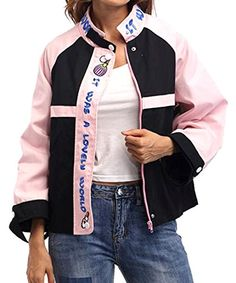 Godeyes Womens with Pocket Mini Loose Fit Fashion Camo Baseball Jacket