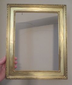 art deco arts crafts original gold gilded plein air frame 9 x 12 c1930s art