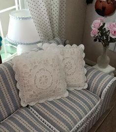 KORONKA M Photos, Dollhouse Miniatures, Bed Pillows, Pillow Cases, Nursery, Interior, Home, Throw Pillows, Craft