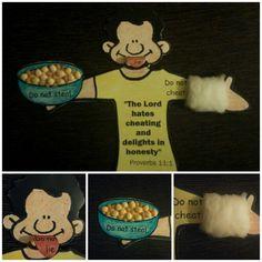 Jacob and Esau - - >A craft(a fridge magnet) showing Jacob's trickery.