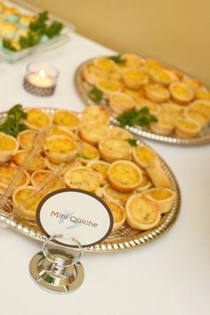 Baby shower food table - Mini Quiche