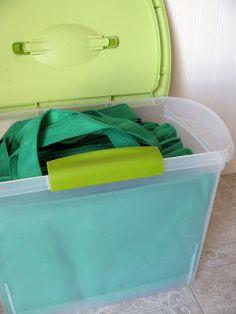 MOM Tip: Reusable Grocery Bag Storage #247moms