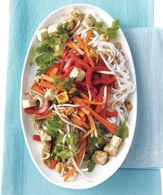 Stir-Fried Rice Noodles With Tofu and Vegetables | Get the recipe for Stir-Fried Rice Noodles With Tofu and Vegetables.