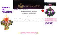 PRIMERA SEMANA DE ADVIENTO  PRIMER DOMINGO DE ADVIENTO DICIEMBRE 2 AL DICIEMBRE 6   PARTE 7 *♥ ♥LOURDES MARIA BARRETO♥ ♥*