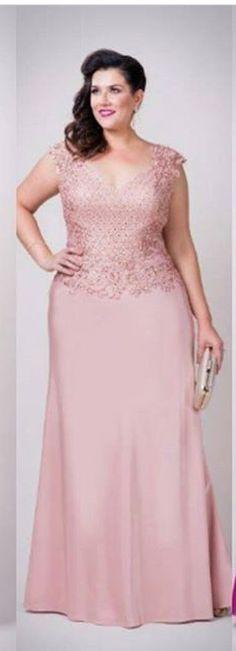 Vestido Pink Outfits, Dress Outfits, Fashion Outfits, Plus Size Gowns, Plus Size Outfits, African Attire, African Dress, Evening Dresses, Prom Dresses