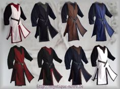 Medival Surcoat Tabart Tunic 10 Colours Middle Ages SCA LARP Reenactment   eBay