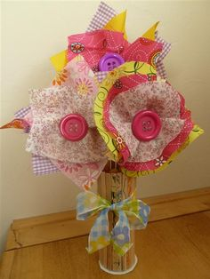 Spring Craft Activities - Scrappy Flowers and Sticky Vase - I love!
