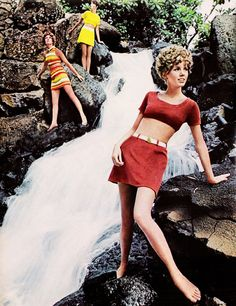 Barefoot hiking fashions,Seventeen magazine, June 1968.