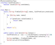Functional Features in Java 8