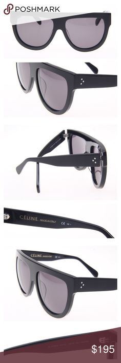 New Celine Shadow Sunglasses Black CL41026/S 8071A Iconic Shadow Celine Sunglasses as seen on celebrities and mostly known for Kim Kardashian choice. Black with gray lenses. Color code 8071/A. Made in Italy, authentic, come with black suede pouch and cloth. Celine Accessories Sunglasses