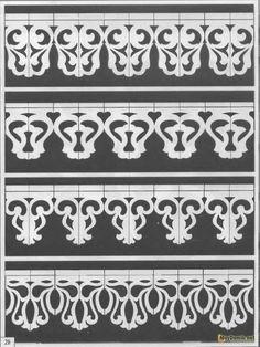 Орнамент резных наличников на окна - 28