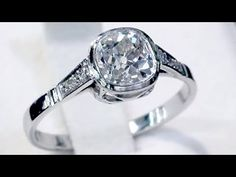 A stunning antique European 1.07 carat diamond and 14 carat white gold solitaire style engagement ring; part of our diverse antique jewellery and estate jewelry collections