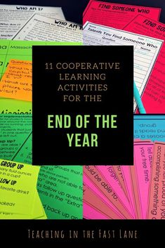 Are you looking for meaningful activities to keep your students engaged through the last moments of the school year? These ELEVEN cooperative learning activities are ready to print and go for FUN community-building that will keep your students asking for