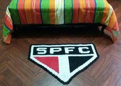 Tapete em crochê do São Paulo Futebol Cl