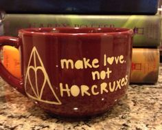 Make Love not Horcruxes and amortentia Harry Potter bowl Mug