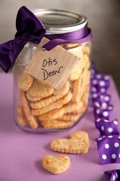 Cheesy Dog Treats. 1/2 cup Cheddar cheese shredded, 1/2 cup shredded Parmesan cheese, 3 Tablespoons vegetable oil, 1 1/2 cup all purpose flour,   1/4 cup nonfat dry milk, 2 teaspoons garlic salt, 1/2 cup water.