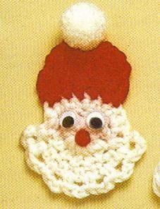 Santa Applique free crochet patttern - Free Crochet Christmas Applique Patterns - The Lavener Chair