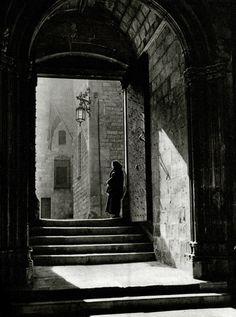 Calle de la Piedad. Barcelona 1945
