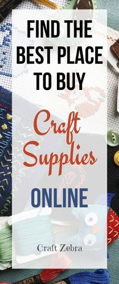 "How can you find the best place to buy craft supplies online? Find the Best Place to Buy Craft Supplies Online. Then, you won't have to travel to the ""brick and mortar"" Craft Store during bad weather, or at inconvenient times. Cheap Craft Supplies, Craft Supplies Online, Paper Craft Supplies, Online Craft Store, Arts And Crafts Supplies, Craft Stores, Craft Supply Stores, Paper Crafts, Diy Crafts"